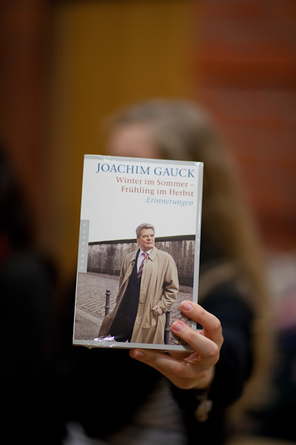 Joachim Gauck zu Gast in der Buchhandlung Greif