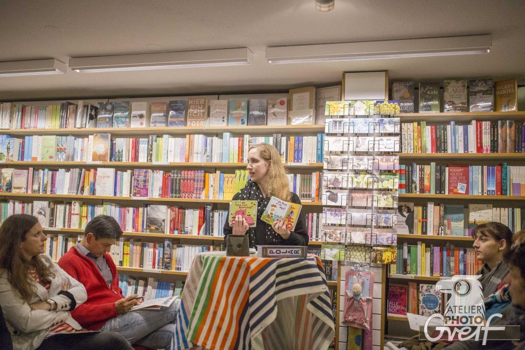 Bücherlese bei Rotwein 2016 in der Buchhandlung Greif