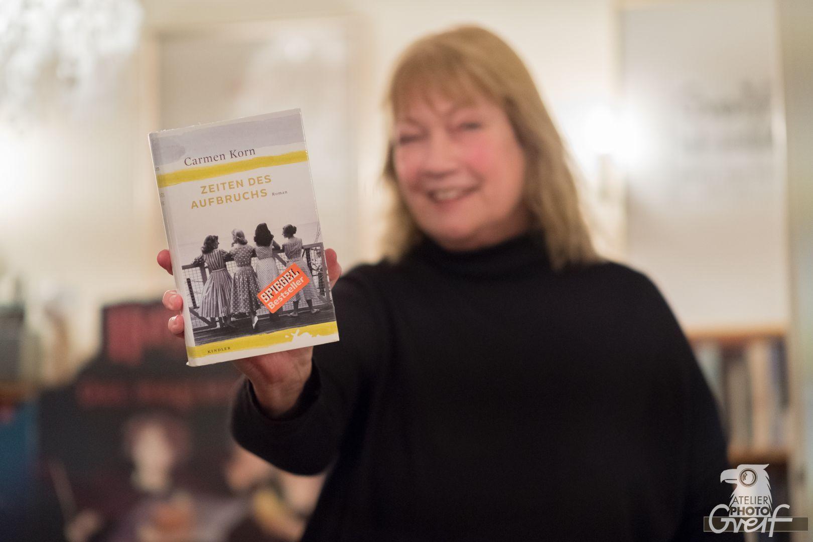 """Lesung mit Carmen Korn in der Buchhandlung Greif Eberbach. """"Zeiten des Aufbruchs"""""""