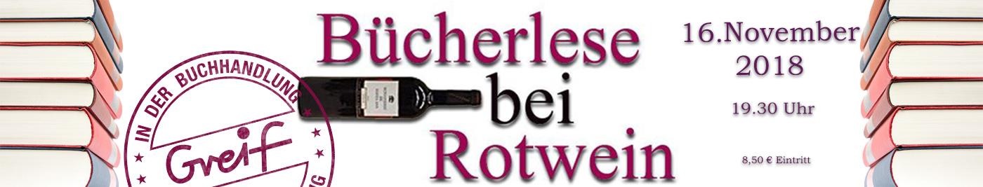 Büecherlese bei Rotwein 2018 in der Buchhandlung Greif